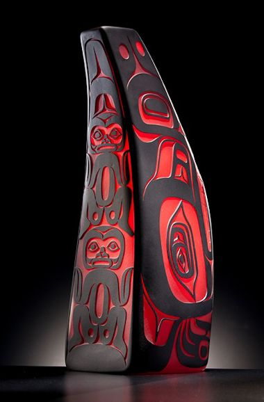Preston Singletary has been famously creating beautiful Native pieces in glass since 1982, transforming the images of his Tlingit heritage into stunning Native American glass art pieces.
