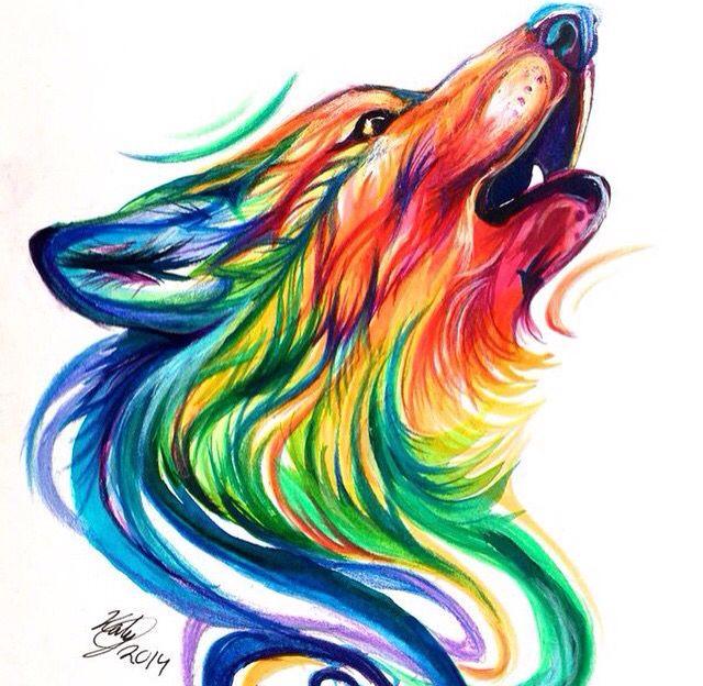 Best 25+ Watercolor Wolf Ideas On Pinterest