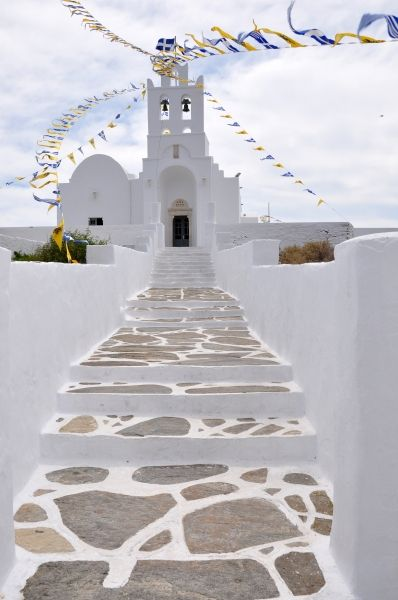 The beatiful monastery of Panayia Chrysopiyi in Sifnos island, Greece.