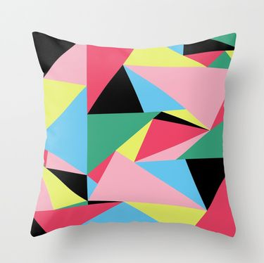 Throw Pillow Cover made from 100% spun polyester poplin fabric, designed by Nerida Hansen, then Individually cut and sewn by hand in the US. The pillow cover measures 45 x 45cm, features a double-sided print and is finished with a concealed zipper for ease of care. Includes Pillow Insert made from 100% recyclable PET, derived from recycled water bottles.