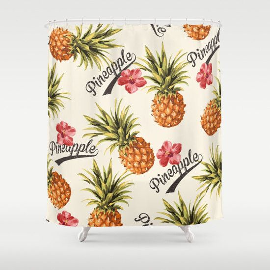 Take a trip south with this fun fabric shower curtain! The design is professionally printed and the colors are vibrant and durable. Each shower curtain is a custom order. We have partnered with wonder