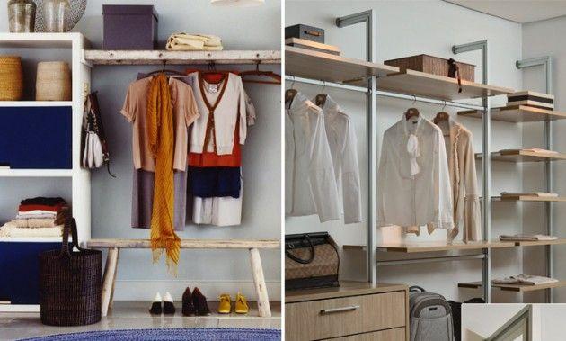 Artesanato Garrafa Pet Para O Natal ~ Guarda roupa closet dividindo o quarto Dicas de