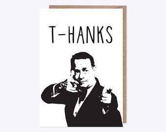 T-Hanks! | Tom Hanks Card | Thank You Card | Handmade | Celebrities | Pun Card | Thanks | Personalised