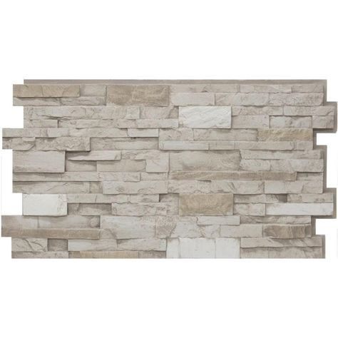 Urestone 24 in. x 48 in. Stacked Stone #45 Almond Taupe Stone Veneer Panel