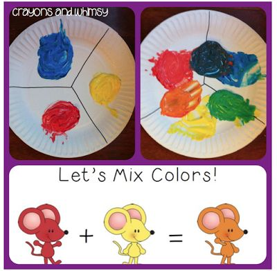 Our True Colors: Start your school year learning about colors! And what a great time to add in a little science fun with a color mixing activity that works well when reading Mouse Paint.