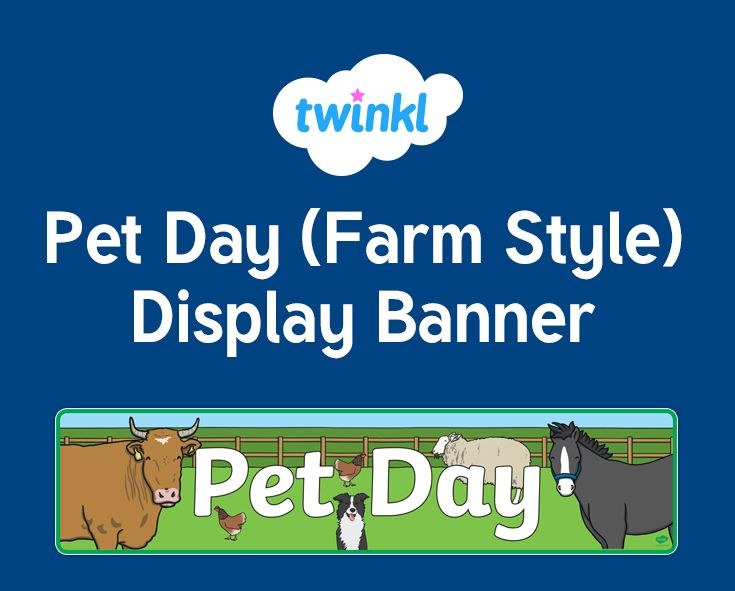 Pet Day (Farm Style) Display Banner