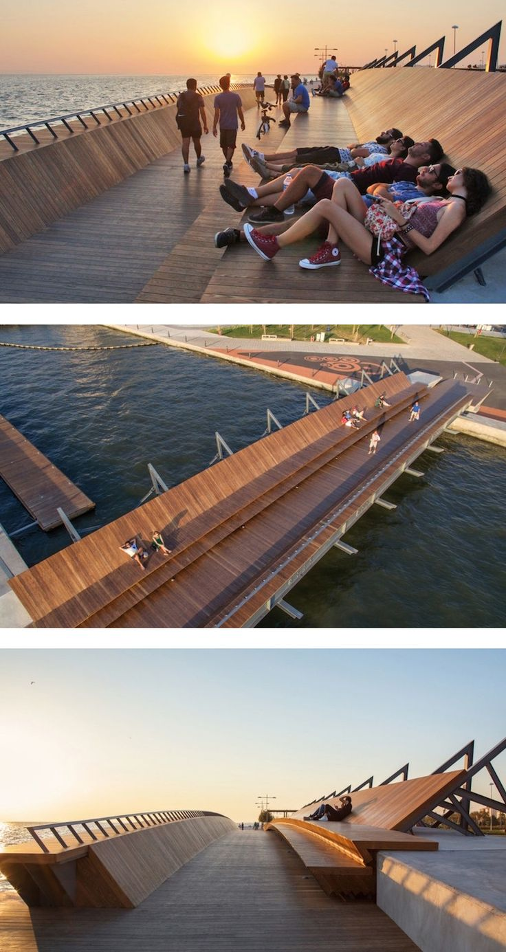 This stunning footbridge in Izmir pulls double duty as a romantic place to lounge and watch the sunset.