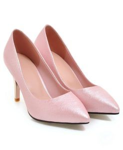 Large size 32-43 four seasons single solid thin high heel 8.5cm wedding shoes women pumps pointed toe