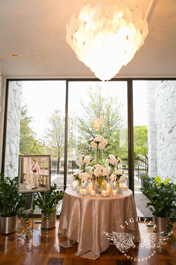 Alexis And Hunter Wedding Reception At Stonegate Mansion In Fort Worth Entrance Table Ideas