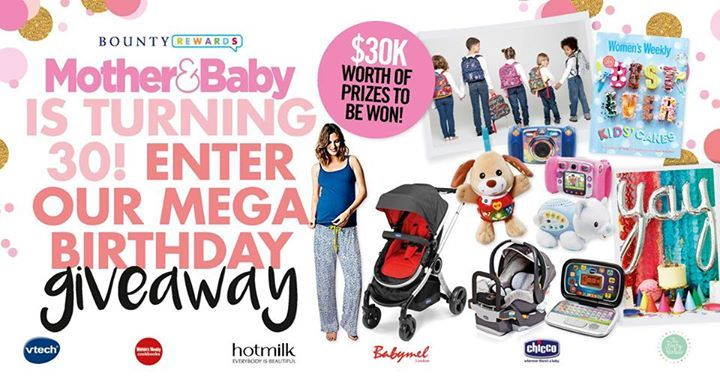 There's presents for everyone when turning 30! We have bright & bubbly Zip & Zoe backpacks from Babymel Australia & New Zealand, oh-so comfy nursing pj's from Hotmilk Lingerie, the ever practical travel system including Urban Stroller from Chicco Australia, gift vouchers from The Party Parlour for all your entertaining needs, bumper toy packs from VTech Toys ANZ and 10 x Best Ever Kids Cake coobooks from our favourite foodies over at The Australian Women's Weekly Cookbooks. Enter/join at…