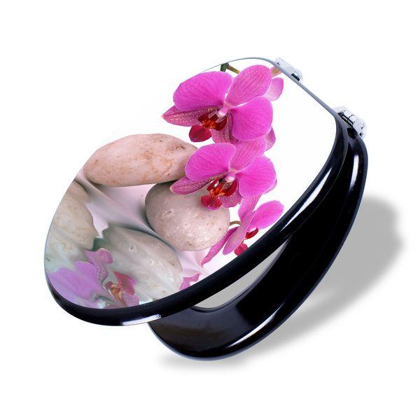 Weiteres - Schwarzer Toilettensitz mit Motiv Orchidee - ein Designerstück von banjado bei DaWanda