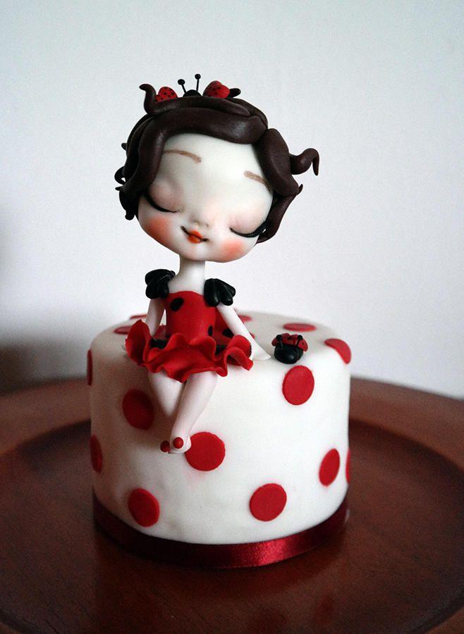 ladybug doll - Pupina Coccinella - Cake by Tiziana Benvegna