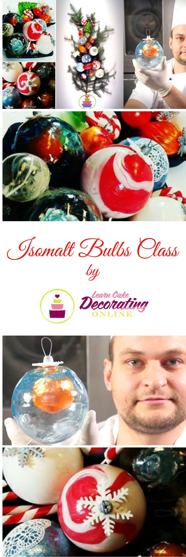 Christmas Bulbs of Isomalt with Janos Kovacs