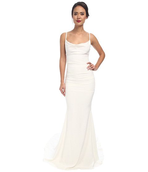 Nicole Miller Hampton Lace Back Gown. Maybe shorten to mid thigh for a reception dress