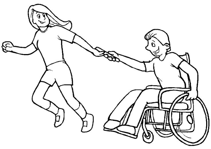children with disabilities coloring pages - photo#9