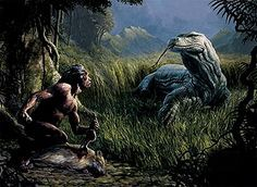 Megalania was a large monitor-like lizard that lived in australia during the Pleistocene Era, about 2.5 million years ago. The massive reptile was about 23 feet (7 meters) long, the size of a Saltwater Crocodile, the largest reptile alive today. It also had a poisonous bite just like its relative, the Komodo Dragon.