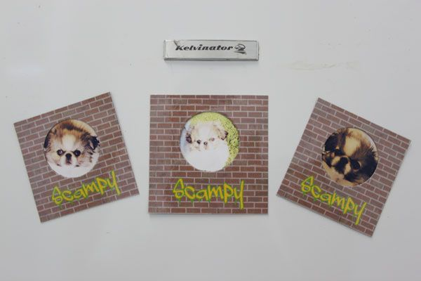 Fridge magnet photo frames