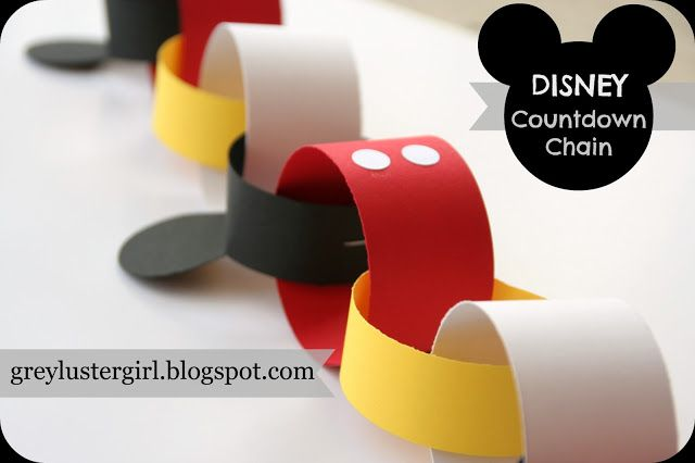 Disney Countdown Chain Tutorial with Mickey Ears Template
