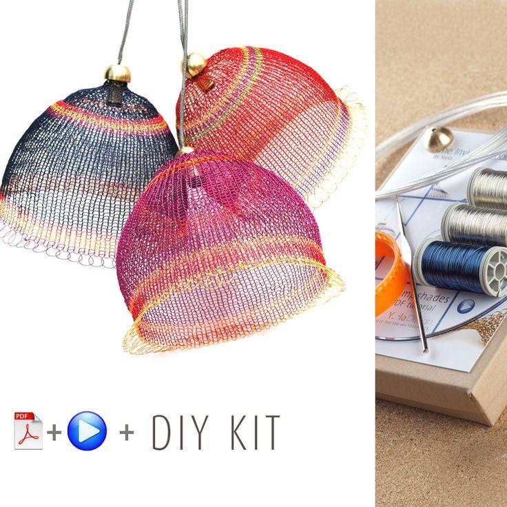 Pendant Light Kit - DIY Pendant light kits - Wire Crochet kit -  Home decor Ideas - Craft Kit - Home Gifts Kit - Housewarming gift