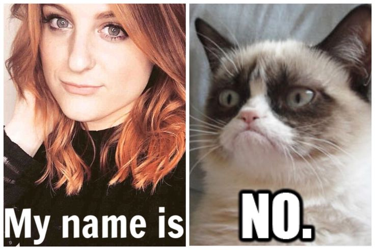 Grumpy Cat Meghan Trainor My name is no meme