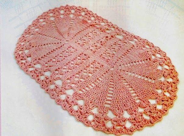 Lenceria De Baño Tejida A Crochet:Crochet y dos agujas: Alfombra de ...