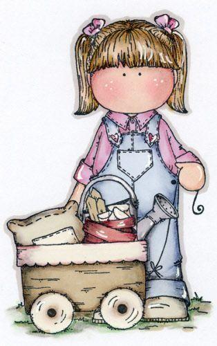 girl with wagon