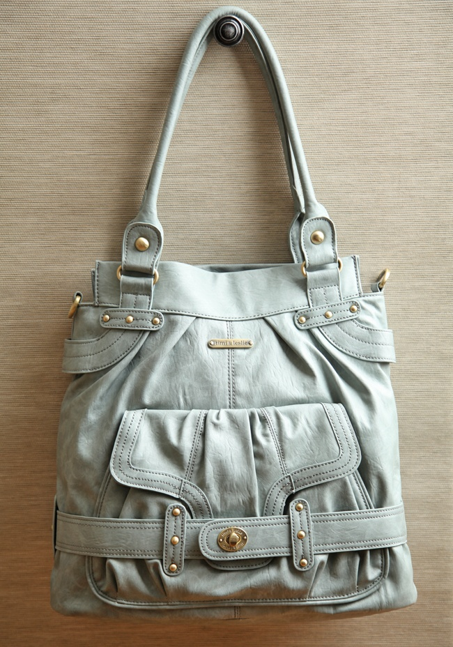 Louise Convertible Diaper Bag By Timi & Leslie 169.99 at shopruche.com. Elegantly chic, this gray blue leatherette diaper bag by  Timi: Cute Diapers Bags, Diaper Bags, Chic Diapers Bags, Convertible Diapers, Laptops Bags, Awesome Handbags, Diapers Bags Looks Like Pur, Stylish Diapers Bags, Big Bags