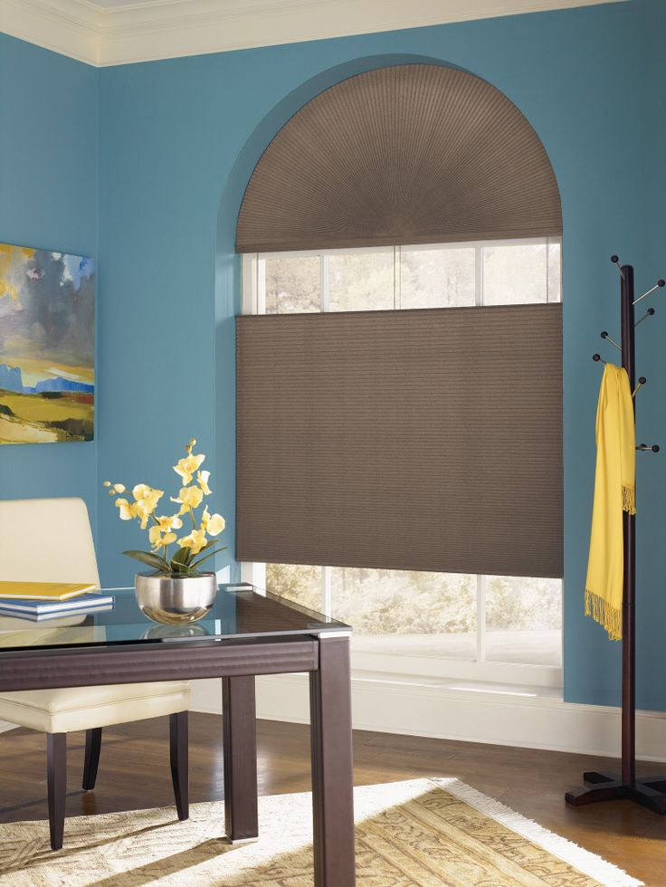 Cover Arched Windows With Top Down Bottom Up Cellular Shades Budget Blinds Custom Window