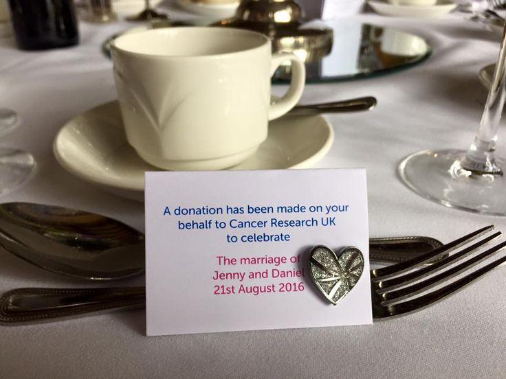 We love this idea for weddings favours- a donation for a good cause <3 #WeddingIdeas #FanhamsHall #WeddingInspiration #Wedding