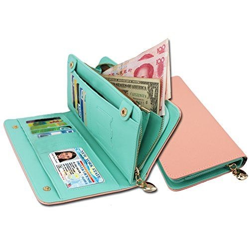 New Trending Purses: KQueenStar Women Lady Leather Wallet Purse Credit Card Clutch Holder Case, One size, Pink. KQueenStar Women Lady Leather Wallet Purse Credit Card Clutch Holder Case, One size, Pink   Special Offer: $12.99      466 Reviews 1.*Let's Look This Excellent WOMEN CARD HOLDER: Material:High quality PU lesther ,Exquisite-touch leather. Size:20*10*2.6/7.87*3.9*1in Structure:1 bills...