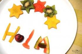 Receta de letras con frutas