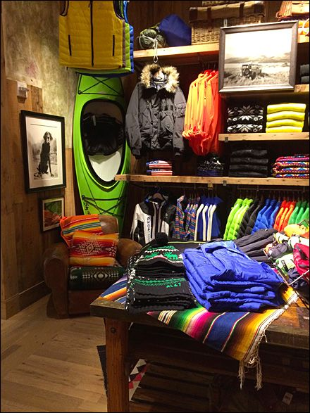 Ralph Lauren Kayak-in-a-Corner Visual Merchandising