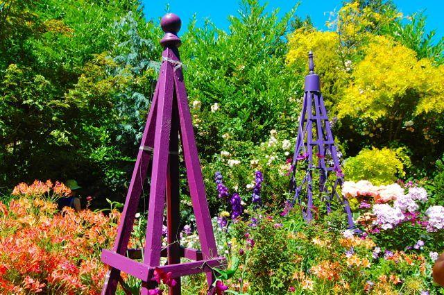 Obelisk Plans |. Cedar. Paint Your Obelisks. Kate Farley U0026#39;s Garden In  Seattle WA.
