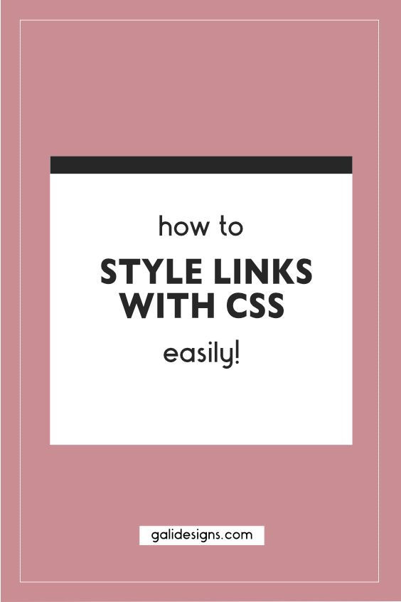 Learn how you can easily style your website links using CSS.