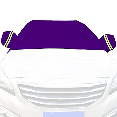 Car Snow Cover Snow Cover for Cars, SUV Snow Protectors Automotive Windshield Snow Covers Dark Purple