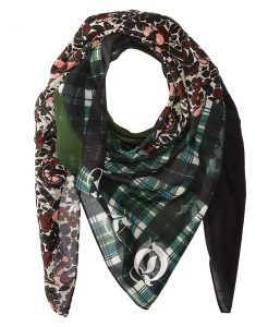 McQ Patchwork Scarf (Darkest Black) Scarves