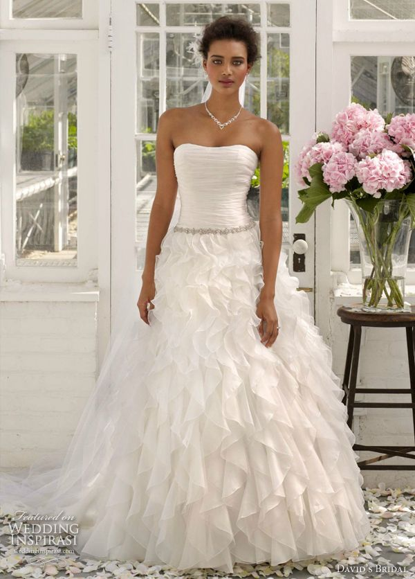 Simple David us Bridal Collection Wedding Dresses