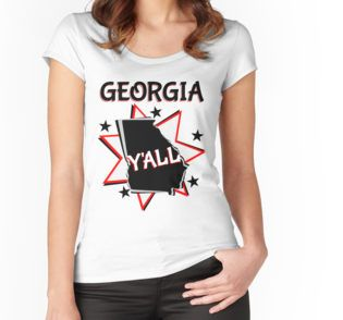 georgia state pride starburst y'all t-shirt