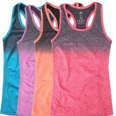 Womens Yoga Tank Top With Gradient Color, Elastic Breathable Material – GoodVibes Store