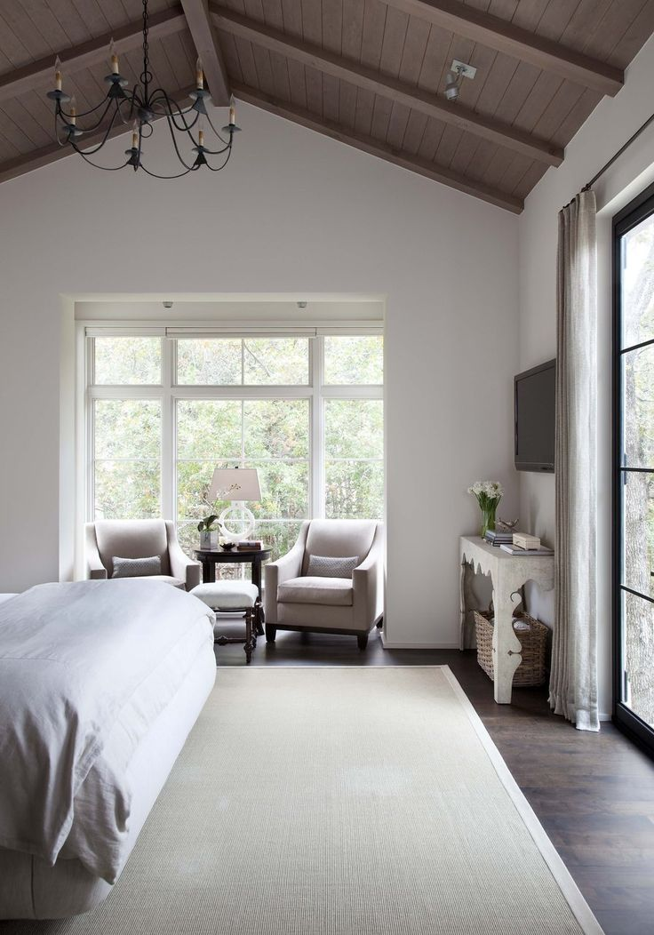 Master Bedroom Like The Huge Windows Also Like The Little Space For A Sitting Area In The