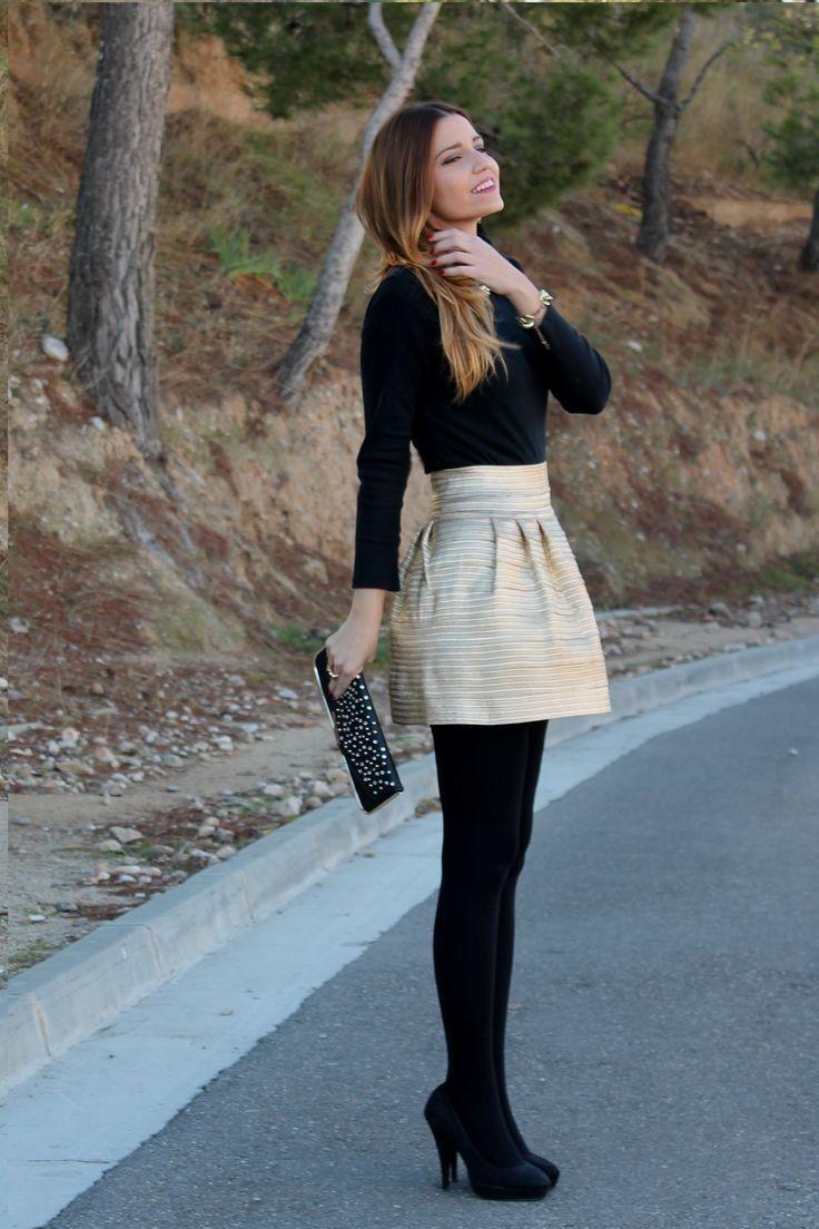 falda dorada