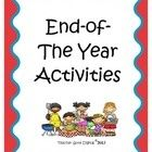 Ideas for end of term activities