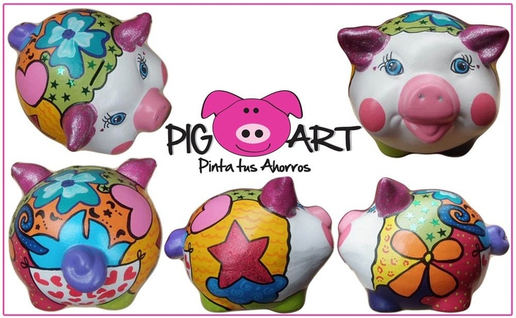 Una vida llena de colores es una vida feliz!!!!! #piggy #bank #money #save #plata#alcancía #color #happy #life #ahorros