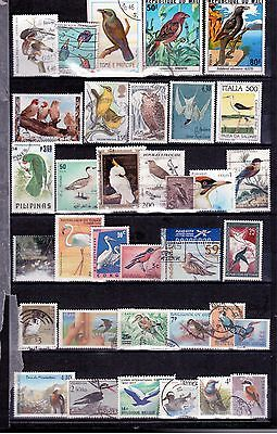 ANIMALS ON STAMPS - BIRDS