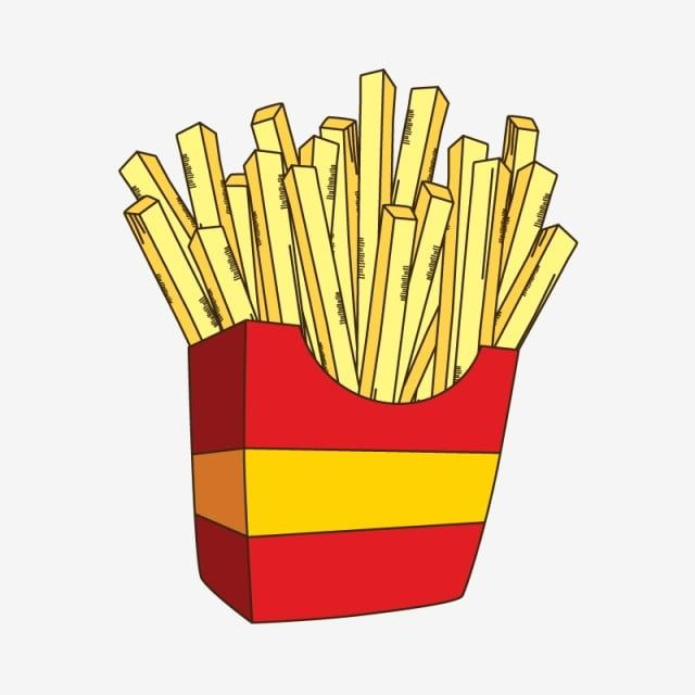 French Fries Cartoon Lunch Clipart Sketch Frenc Fries Png And Vector With Transparent Background For Free Download French Fries Fries Yummy Fries