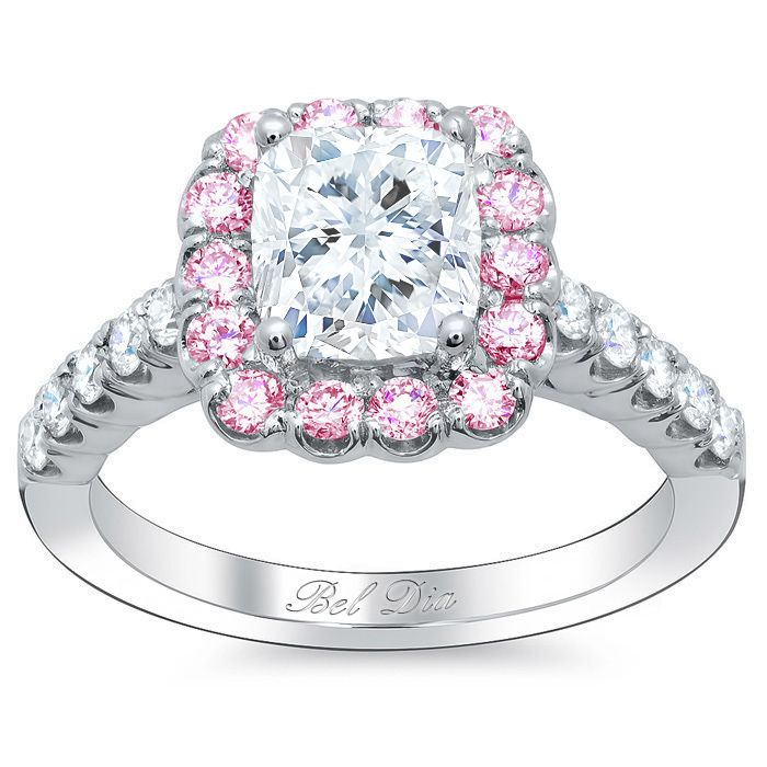 ring rings set prong stone shoulder engagement product on diamond side setting accented