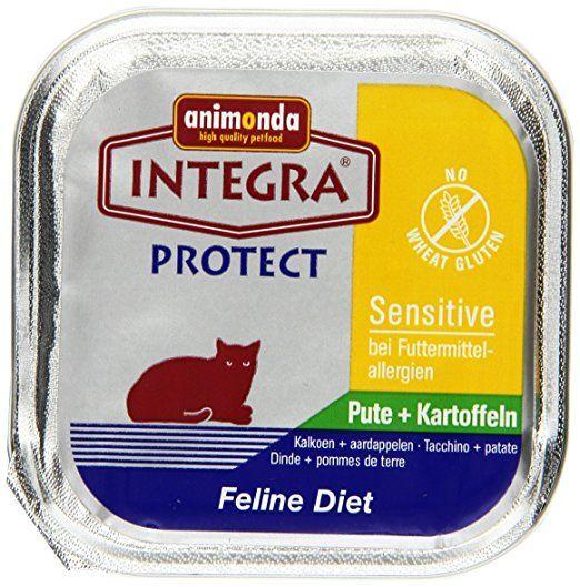 Animonda Integra Protect Sensitive Pute und Kartoffel 16 x 100 g für Katzen, 1-er Pack (1 x 1.6 kg)