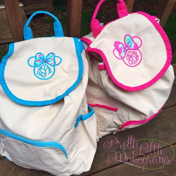 Minnie Monogram Backpack with Lilly Pulitzer Fabric – Pretty Little Monograms