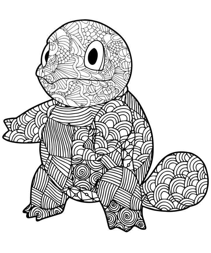 Mandala Squirtle Coloring Page Printable Pokemon Coloring Pages