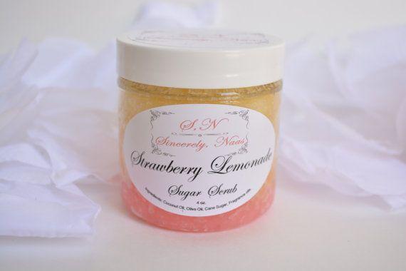 Strawberry Lemonade Sugar Scrub by SincerelyNaas on Etsy